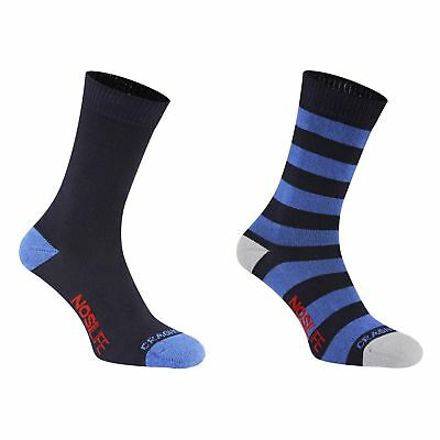 Craghoppers Nosilife Insect Repel Mens 2 Pack Walking Socks - Blue - 6/8 RRP £24