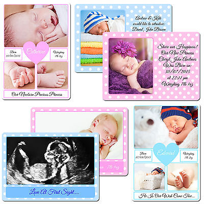 Newborn Baby Scan Girl Boy Personalised Your Photo Picture Custom Fridge Magnet