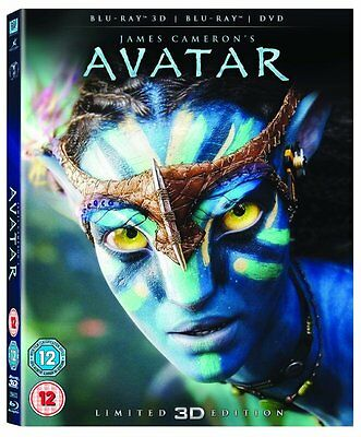 Avatar Blu-Ray 3D Dvd Region Free Limited Addition With Lenticular Artwork New