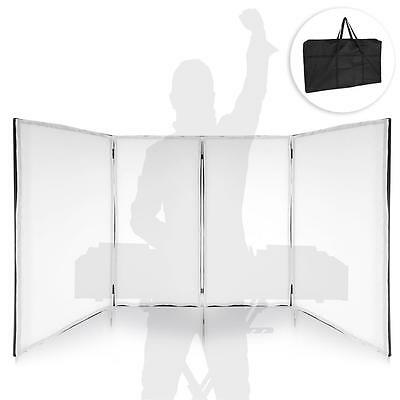 Pyle PDJFAC12 DJ Booth Cover Screen - DJ Façade Frontboard Display Scrim Panel