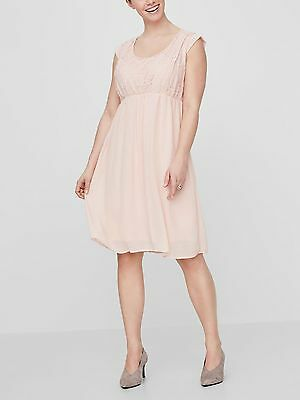 BNWT Mamalicious Maternity & Nursing Dress Party Wedding Special Occasion Peach