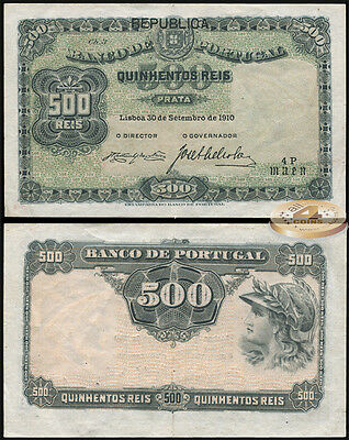 Portugal. 500 peis (XF+) 1917. Banknote Kat# P.105a