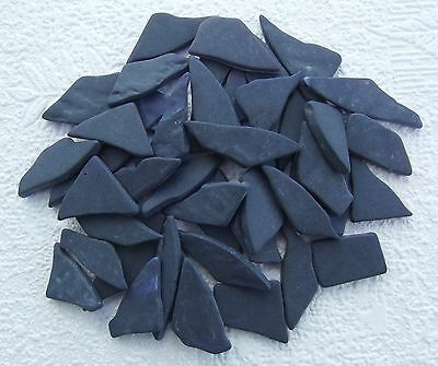 YK * 100grms CULTURED SEA GLASS MOSAIC PIECES * PURPLE * 3mm Thick