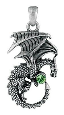 New Green Ladon Dragon Pendant Collectible Accessory Necklace Serpent