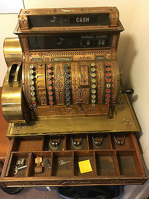 """ANTIQUE 1888 National Cash Register Model 92 Empire Style from """"STANLEY THEATRE"""""""