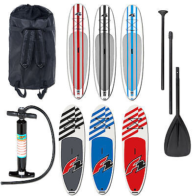 "F2 Basic Ride Inflatable Sup Board Set 2017 ~ 10,0"" 10,6"" 11,6"" + Paddel & Pumpe"