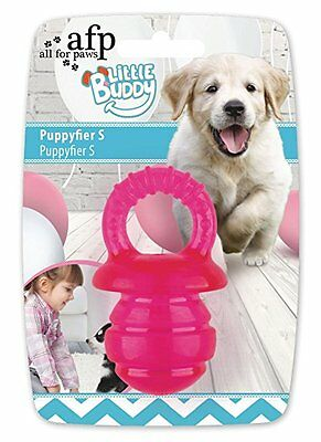 All For Paws Little Buddy Puppy Dog Puppyfier Pink Teething Dental  Rubber Toy