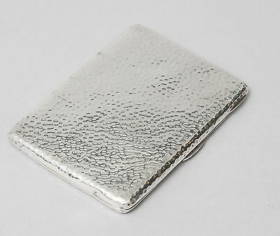 Antique George Unite Arts & Crafts Planished Silver Visiting Card Case - 1887