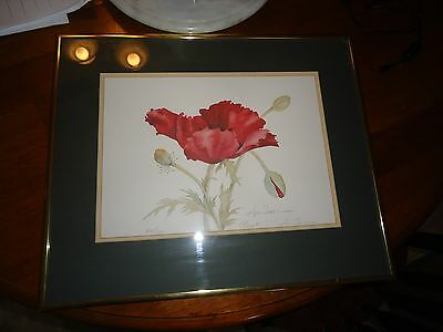 Lyn Snow Signed And Numbered Print Claret Snow Gallery Maine #698/1500 framed