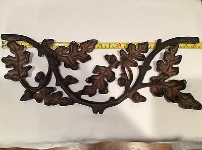 Lot of 5 Heavy cast iron Acorn Leaf architectural salvage fence garden decor