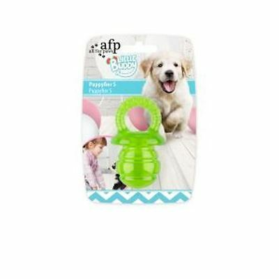 All For Paws Little Buddy Puppy Dog Puppyfier Green Teething Dental Soft Rubber