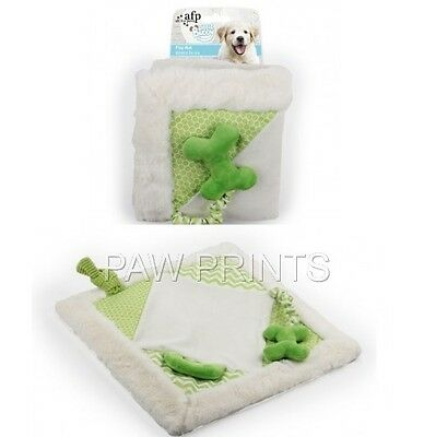 All For Paws Little Buddy Puppy Dog Soft Play Mat With Toys Bone Green Gift Idea