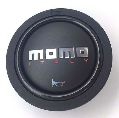 Genuine Momo Italy black matt steering wheel horn push button (small). BRAND NEW