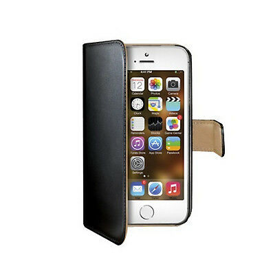Celly Book Case f. iPhone 5/5s/SE black WALLY185