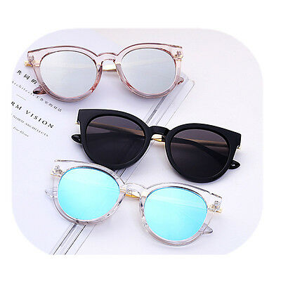 Women's Retro Cat Eye Sunglasses Classic Vintage Fashion Shades Clear Eyewear