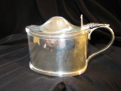 Sterling Silver English Mustard Condiment, London MW Hallmarked, 1916
