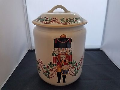 "Block Portugal ""Whimsey Christmas Cookie Jar"" Excellent Condition"