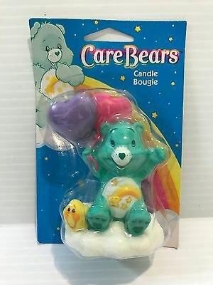 CARE BEAR BIRTHDAY CANDLE, Wish Bear birthday candle, green care bear candle
