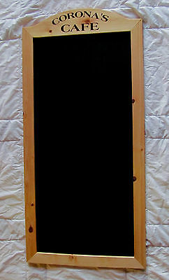 24x48 Wood Frame Chalk Menu Board with your Business Name ~ Restaurant Cafe Bar
