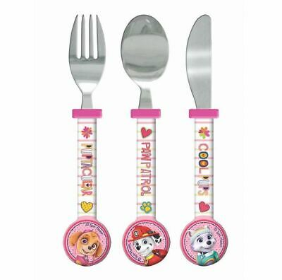 Paw Patrol Girls 3 Piece Triangle Shaped Cutlery Set  Free P/P
