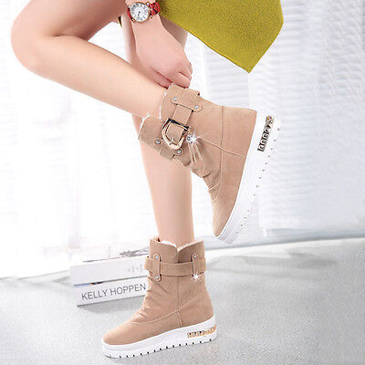 Women's Casual Shoes Snow Ankle Boots Winter Keep Warm Fur Boots Slip