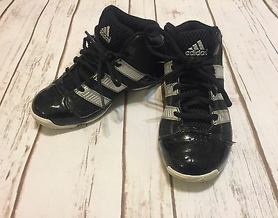 Boys Black ADIDAS High Top Shoes Sneakers Size 13 1/2