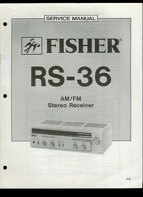 Rare Factory The Fisher RS-36 AM FM Stereo Tuner Receiver Service Manual