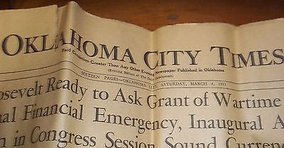 1933 Oklahoma City Times - Newspaper - Advertising Inside