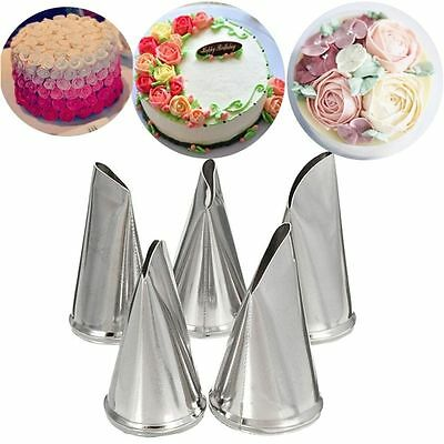 5 Pcs/Set Flower Cream Petal Cake Decorating Tips Icing Piping Nozzles Pastry