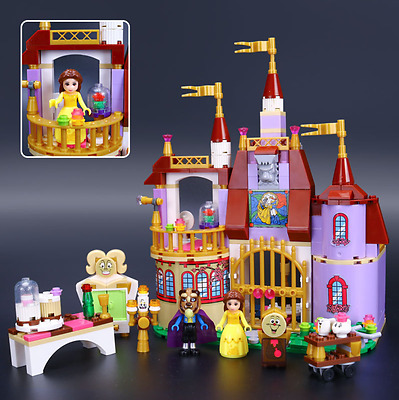 Kids New Gift  Beauty and the Beast Belle Princess Assemble Castle Toys 384PCS