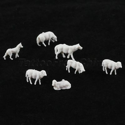 30pcs Lovely Model Sheep Farm Animals For Train Scenery Kids DIY Toy 1:87 Scale