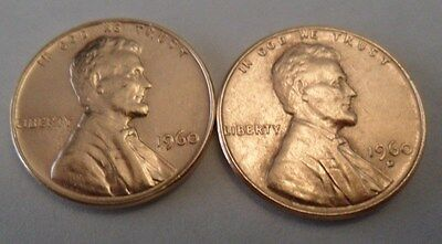 1960 P & D Lincoln Cent / Penny Set  *LARGE DATE*  *FREE SHIPPING*