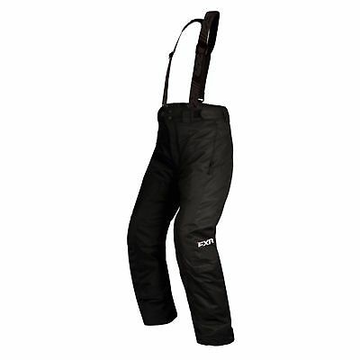 FXR CHILD/YOUTH SQUADRON Snowmobile PANTS/BIB -BLACK -Free Shipping
