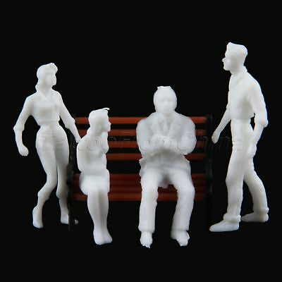 100x Unpainted Architectural 1:150 Scale Model Train People Figures Layout 13mm