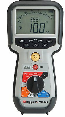 Megger MIT420 50 to 1000V Insulation and Continuity Tester NEW!