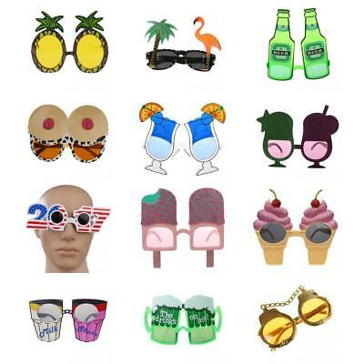 Assorted Hawaiian Tropical Sunglasses Glasses Summer Fancy Dress Party Costume