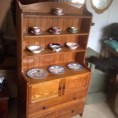 antique Solid Oak Dresser  golden oak
