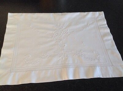 Victorian  Embroidered Cotton Pillow Case/Nightdress Case