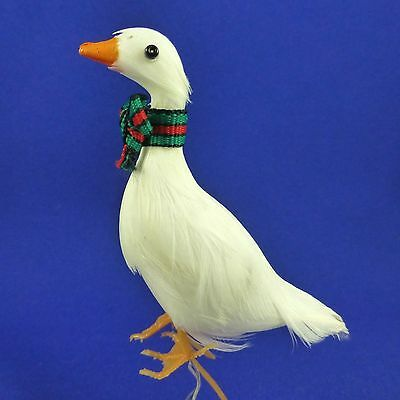 """Set of 3 Feather White Christmas Goose Duck Figures Craft Floral Picks 3"""""""