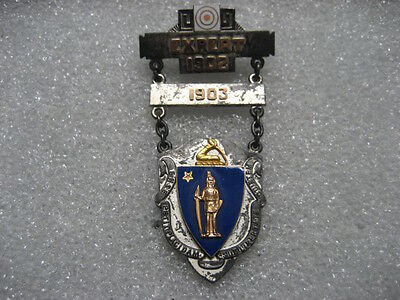 Badge MASS Volunteer Militia Expert Marksman 1902,1903