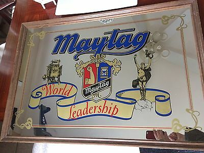 "Original Vintage 1940s? Maytag World Leadership  Washing Machines Mirror 33""x23"""