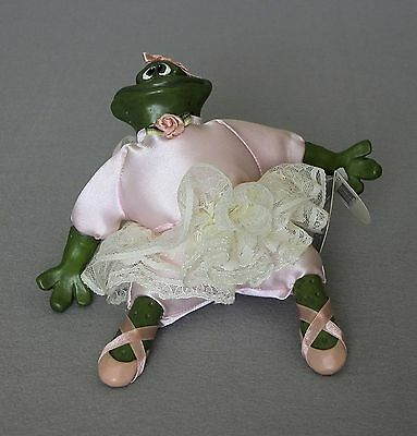 New Vintage Bailey Rina Ballerina Frog Russ Doll 1990s. Pink Satin Tutu With Tag