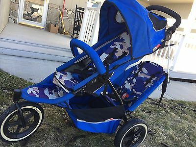 phil and teds double stroller Blue Camo