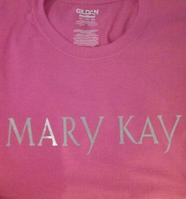 New MARY KAY Tee- Shirt Unisex Cut - Hot Pink And Silver Glitter All Sizes