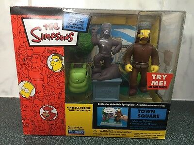 WOS Simpsons World of Springfield Town Square with Jebediah Springfiled Playset