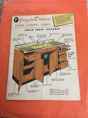 1952 Youngstown  STEEL KITCHENS Diana cabinet sinks CATALOG RETRO RETRO 1950'S