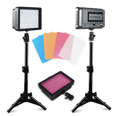 NEW 2 Pieces CN-160 LED Video Light Lighting Kit for Canon, Nikon, Sony DSLR