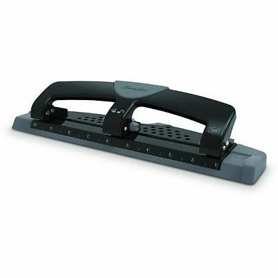 SmartTouch 3-Hole Punch Heavy Duty Metal Low Force 12 Sheet Punch Capacity