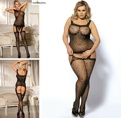 PLUS SIZE DESSOUS | Leopard Patterned Garter Dress | XS-L H3029P