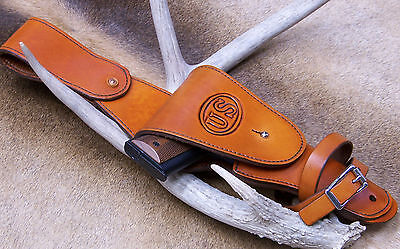 Colt 1911 Para Military Cavalry Leather Holster, Made in the USA, Right Hip